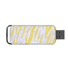 Skin3 White Marble & Yellow Watercolor (r) Portable Usb Flash (two Sides) by trendistuff