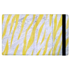 Skin3 White Marble & Yellow Watercolor (r) Apple Ipad 3/4 Flip Case by trendistuff