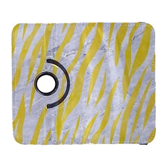 Skin3 White Marble & Yellow Watercolor (r) Galaxy S3 (flip/folio) by trendistuff