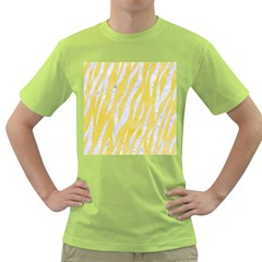 Skin3 White Marble & Yellow Watercolor Green T Shirt by trendistuff