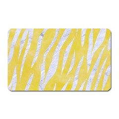 Skin3 White Marble & Yellow Watercolor Magnet (rectangular) by trendistuff