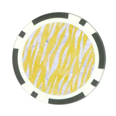 Skin3 White Marble & Yellow Watercolor Poker Chip Card Guard by trendistuff