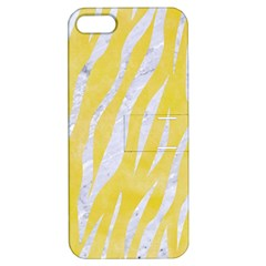 Skin3 White Marble & Yellow Watercolor Apple Iphone 5 Hardshell Case With Stand by trendistuff