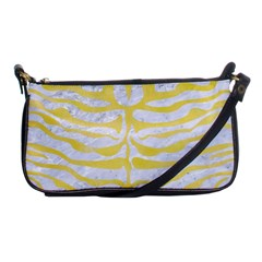 Skin2 White Marble & Yellow Watercolor (r) Shoulder Clutch Bags by trendistuff