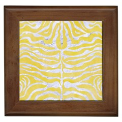 Skin2 White Marble & Yellow Watercolor Framed Tiles by trendistuff
