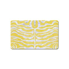 Skin2 White Marble & Yellow Watercolor Magnet (name Card) by trendistuff