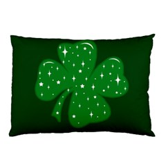 Sparkly Clover Pillow Case by Valentinaart