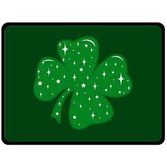 Sparkly Clover Fleece Blanket (large)  by Valentinaart