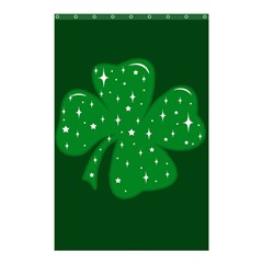 Sparkly Clover Shower Curtain 48  X 72  (small)  by Valentinaart