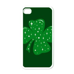 Sparkly Clover Apple Iphone 4 Case (white) by Valentinaart