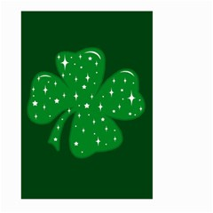 Sparkly Clover Large Garden Flag (two Sides) by Valentinaart