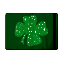 Sparkly Clover Apple Ipad Mini Flip Case by Valentinaart