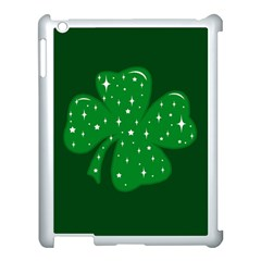 Sparkly Clover Apple Ipad 3/4 Case (white)