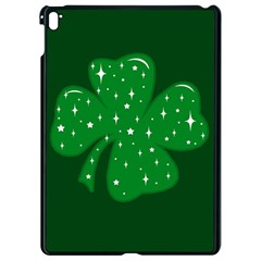 Sparkly Clover Apple Ipad Pro 9 7   Black Seamless Case by Valentinaart