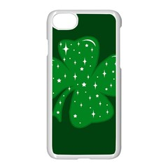 Sparkly Clover Apple Iphone 8 Seamless Case (white) by Valentinaart