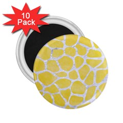 Skin1 White Marble & Yellow Watercolor (r) 2 25  Magnets (10 Pack)  by trendistuff