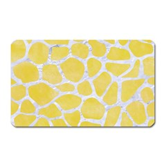 Skin1 White Marble & Yellow Watercolor (r) Magnet (rectangular) by trendistuff
