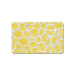Skin1 White Marble & Yellow Watercolor (r) Magnet (name Card) by trendistuff