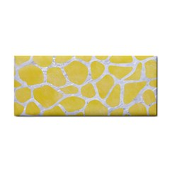 Skin1 White Marble & Yellow Watercolor (r) Cosmetic Storage Cases by trendistuff