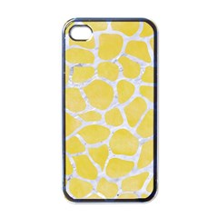 Skin1 White Marble & Yellow Watercolor (r) Apple Iphone 4 Case (black) by trendistuff