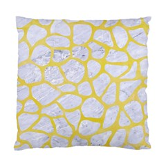 Skin1 White Marble & Yellow Watercolor Standard Cushion Case (two Sides) by trendistuff