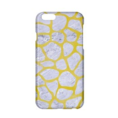 Skin1 White Marble & Yellow Watercolor Apple Iphone 6/6s Hardshell Case by trendistuff