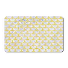 Scales3 White Marble & Yellow Watercolor (r) Magnet (rectangular) by trendistuff