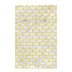 Scales3 White Marble & Yellow Watercolor (r) Shower Curtain 48  X 72  (small)  by trendistuff
