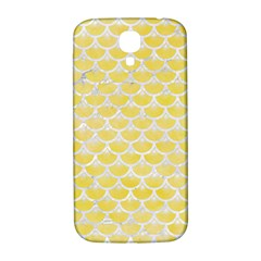 Scales3 White Marble & Yellow Watercolor Samsung Galaxy S4 I9500/i9505  Hardshell Back Case