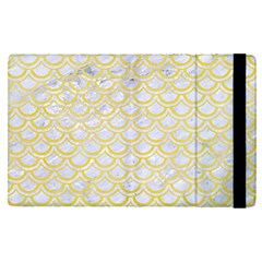 Scales2 White Marble & Yellow Watercolor (r)scales2 White Marble & Yellow Watercolor (r) Apple Ipad Pro 12 9   Flip Case
