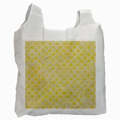 Scales2 White Marble & Yellow Watercolor Recycle Bag (one Side) by trendistuff