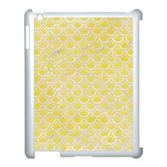 Scales2 White Marble & Yellow Watercolor Apple Ipad 3/4 Case (white) by trendistuff