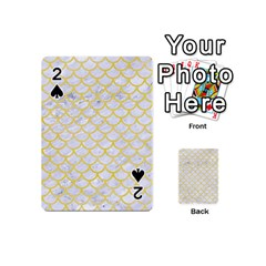 Scales1 White Marble & Yellow Watercolor (r) Playing Cards 54 (mini)  by trendistuff