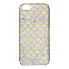 Scales1 White Marble & Yellow Watercolor (r) Apple Iphone 5c Hardshell Case by trendistuff