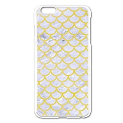 Scales1 White Marble & Yellow Watercolor (r) Apple Iphone 6 Plus/6s Plus Enamel White Case by trendistuff