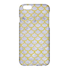 Scales1 White Marble & Yellow Watercolor (r) Apple Iphone 6 Plus/6s Plus Hardshell Case by trendistuff