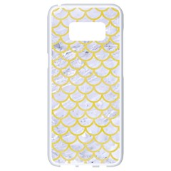 Scales1 White Marble & Yellow Watercolor (r) Samsung Galaxy S8 White Seamless Case by trendistuff
