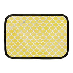 Scales1 White Marble & Yellow Watercolor Netbook Case (medium)