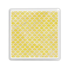 Scales1 White Marble & Yellow Watercolor Memory Card Reader (square)  by trendistuff