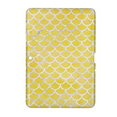 Scales1 White Marble & Yellow Watercolor Samsung Galaxy Tab 2 (10 1 ) P5100 Hardshell Case  by trendistuff