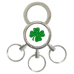 Sparkly Clover 3 Ring Key Chains by Valentinaart