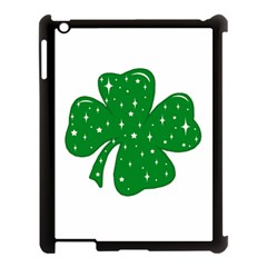 Sparkly Clover Apple Ipad 3/4 Case (black) by Valentinaart
