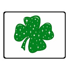 Sparkly Clover Double Sided Fleece Blanket (small)