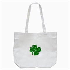 Sparkly Clover Tote Bag (white)