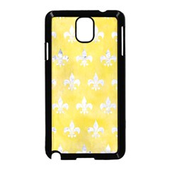Royal1 White Marble & Yellow Watercolor (r) Samsung Galaxy Note 3 Neo Hardshell Case (black) by trendistuff