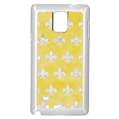 Royal1 White Marble & Yellow Watercolor (r) Samsung Galaxy Note 4 Case (white) by trendistuff