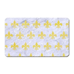 Royal1 White Marble & Yellow Watercolor Magnet (rectangular) by trendistuff