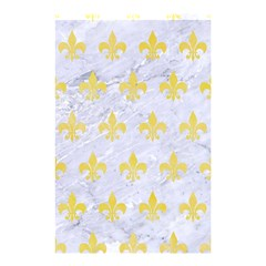 Royal1 White Marble & Yellow Watercolor Shower Curtain 48  X 72  (small)