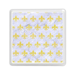 Royal1 White Marble & Yellow Watercolor Memory Card Reader (square)  by trendistuff
