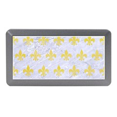 Royal1 White Marble & Yellow Watercolor Memory Card Reader (mini) by trendistuff